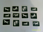 Horse themed stencils for glitter tattoos / airbrush tattoos / henna / cakes / etching / many other uses  fund raising girls